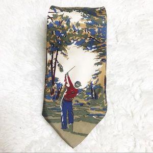 Van Heusen 417 Silk Novelty Golf Tie